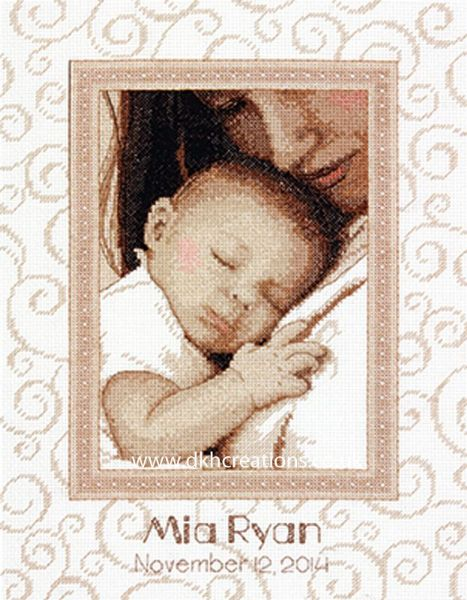 Peaceful Baby Birth Record Cross Stitch Kit